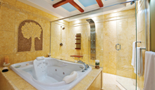 Spa inspired beautiful master bathrooms with deep soaker tubs