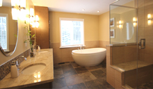 Full bathroom renovations with tub and/or shower combinations