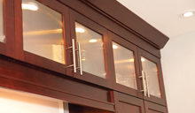 We even manufacturer our own custom cabinets