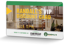 OakWood Randall's VIP Discount Card