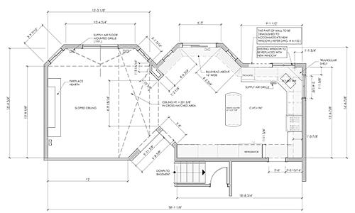 As-Built Drawings and floor plan