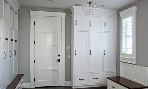 OakWood mudroom and storage