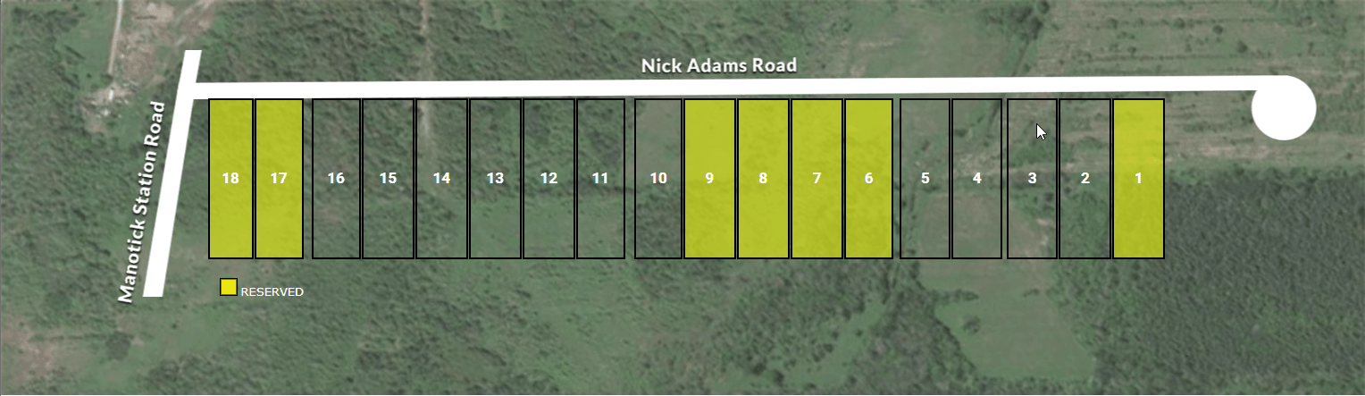 Adams Estates Lot Plan